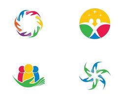icônes de soins communautaires vecteur