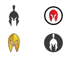ícones de capacete espartano vetor