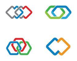 Multicolor Corporate Logos vector