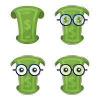 Funny dollar character set vector