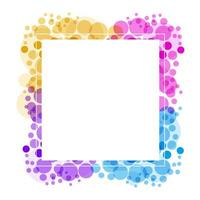 White frame on colorful bubbles