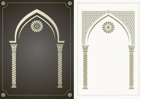 Arabic style arch set vector