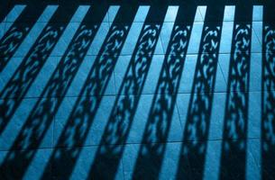 silhouette background of baluster, Architectural element photo
