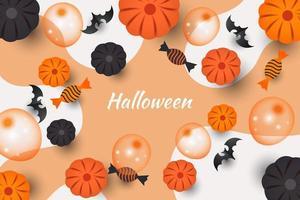 Halloween Treat, Pumpkin and Balloon Design vector