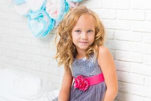 Adorable little girl in her room