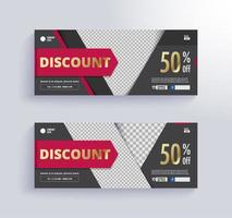 Discount gift voucher template vector