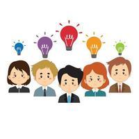 teamwerk innovatie bedrijfsconcept vector
