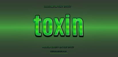 efecto de texto de toxina verde vector