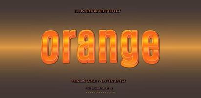 Fruity Orange Text Effect Style vector
