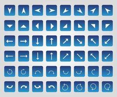 conjunto de iconos de flecha plana vector