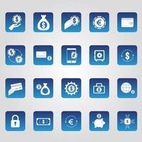 Bundle of Economy Finances Icons vector