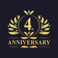 4th Anniversary Gold Logo