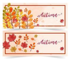Autumn sale banner set vector
