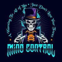 crâne de magicien '' contrôle mental '' vecteur