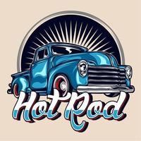 camion vintage hot rod vecteur