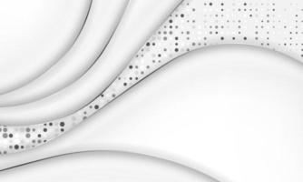 moderno ondulato sfondo bianco e grigio