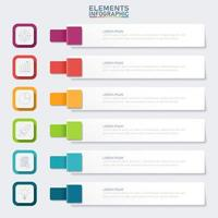infográfico de banner colorido com 6 etapas