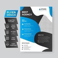 Cyan Corporate Flyer vector