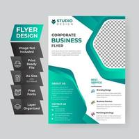 Teal Gradient Corporate Flyer vector