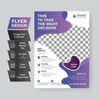 Purple Gradient Corporate Flyer vector