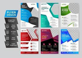 Corporate business flyer set vector