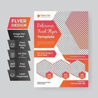 Red and Orange Gradient Food Flyer vector