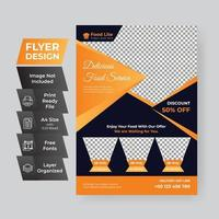 Orange and Black Modern Restaurant Flyer