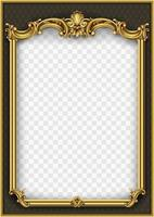 Golden ornamental frame with pattern