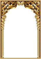 Golden classic baroque frame vector