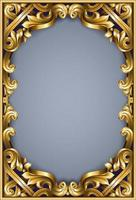 Golden classic rococo frame