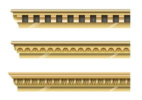 Classical gold cornices