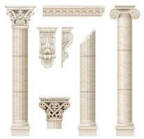 columnas clásicas de mármol antiguo