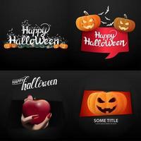 Happy Halloween typography set vector