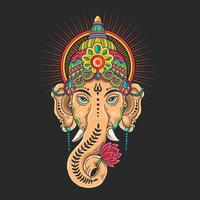 Colorful Ganesha head mascot