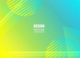 Blue yellow gradient geometric design vector