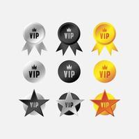 etiqueta vip, cinta y conjunto de etiquetas vector