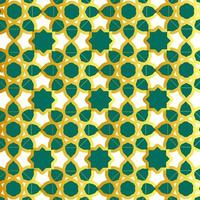 Green and gold Islamic pattern