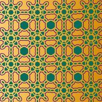 diseño de patrón islámico degradado dorado