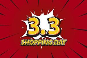 Shopping day design in pop art style vector