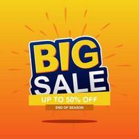 Orange gradient big sale banner