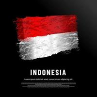 Indonesia flag made of glitter sparkles vector