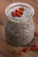 Chia seed pudding photo