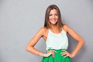Portrait of a smiling cute woman