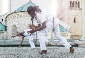jong paar capoeira partnerschap, spectaculaire sport
