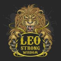 Leo Lion Zodiac Design vector