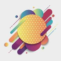 Abstract Colorful Geometric Pattern Composition Rounded Line Shapes