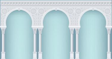 arcade en estilo oriental vector