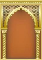 Arch of Gold in Oriental Style vector