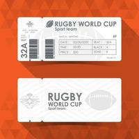 Rugby World Cup Ticket vector