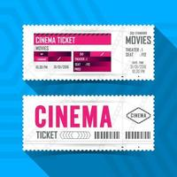 Cinema Movie Ticket Set vector